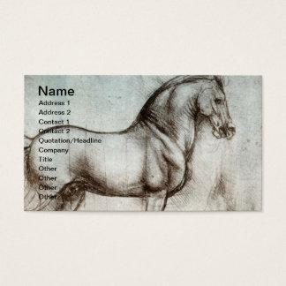 Arte do cavalo do vintage cartão de visitas
