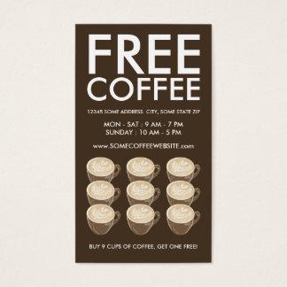 arte do coração do café cartão de visitas