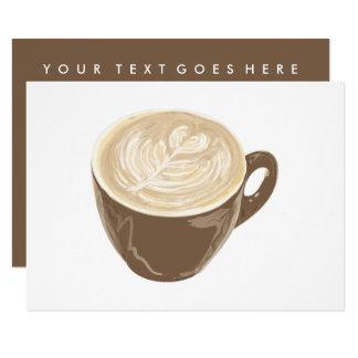 arte do coração do café convite 8.89 x 12.7cm