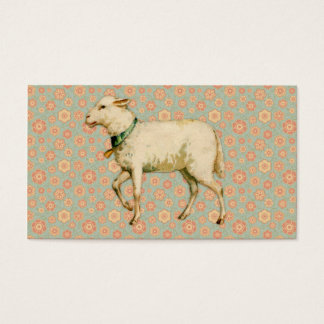 Arte do cordeiro do vintage cartão de visitas