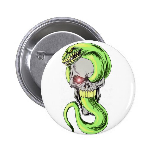 Arte do crânio da serpente boton
