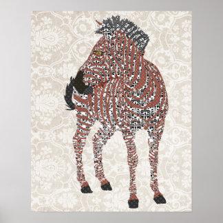 Arte do damasco de Zenya Impressão