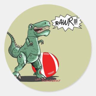 Arte do dinossauro ou do dragão por Luis Julián Adesivos Em Formato Redondos