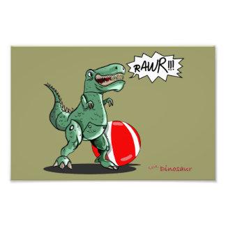 Arte do dinossauro ou do dragão por Luis Julián To Impressão Fotográfica