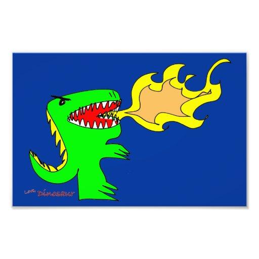 Arte do dinossauro ou do dragão por pouco t + Jose Impressão Fotográficas