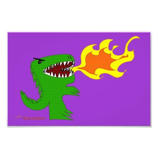 Arte do dinossauro ou do dragão por poucos t e Ren Foto