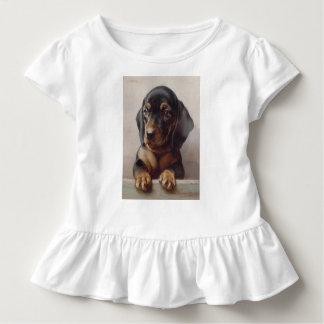Arte do filhote de cachorro do Dachshund Camiseta Infantil