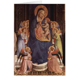 Arte do Fra Angelico Cartão
