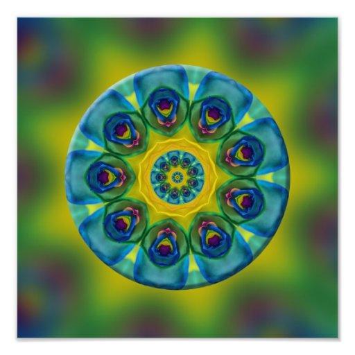 Arte do Fractal da mandala do arco-íris Artes De Fotos