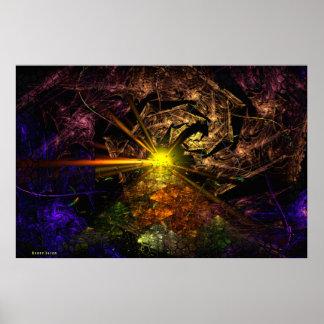 Arte do Fractal de Machu Picchu 3D Posters