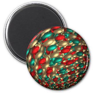 arte do fractal do abstrato da textura das ímã redondo 5.08cm