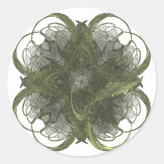Arte do Fractal do trevo de quatro folhas Adesivo