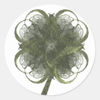 Arte do Fractal do trevo de quatro folhas com Adesivo