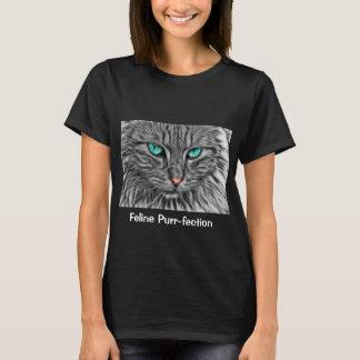 Arte do gato da camisa da cara do gato