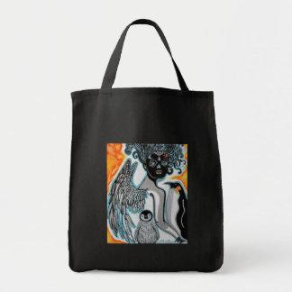 Arte do guardião do pinguim bolsa para compras