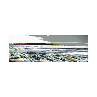 Arte do impressão do abstrato de Praia de