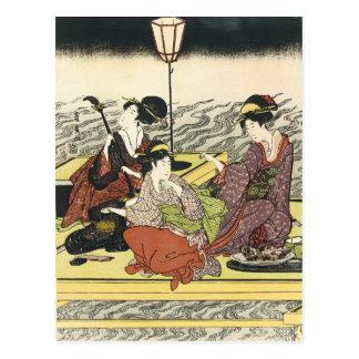 Arte do japonês do vintage cartão postal