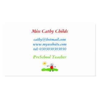 Arte do Kiddie, senhorita Cathy Childs, Modelos Cartão De Visita