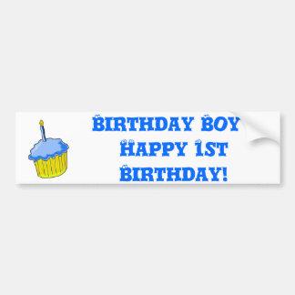 Arte do menino do aniversário adesivo para carro