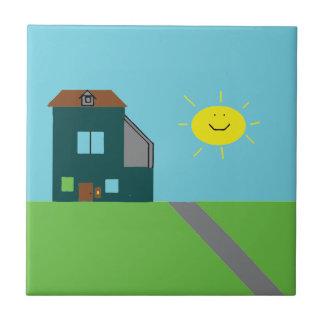 Arte do miúdo - céu & luz do sol da casa