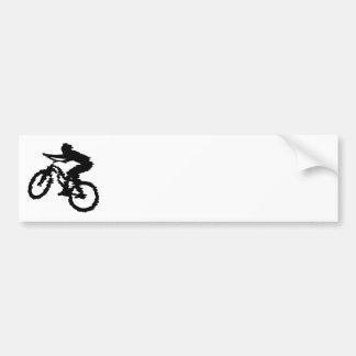 Arte do motociclista da montanha adesivo