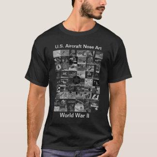 Arte do nariz de aviões camisetas