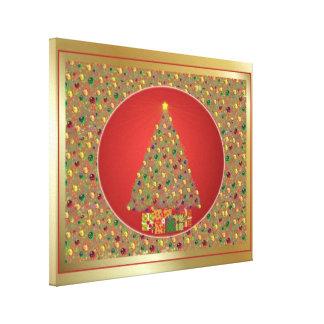 Arte do Natal de Digitas das canvas Impressão Em Canvas