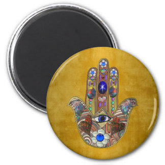 Arte do Opal das flores dos corações de Hamsa no Imã