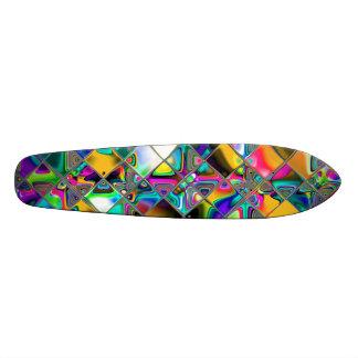 arte do original do arco-íris dos anos 90 shape de skate 20cm