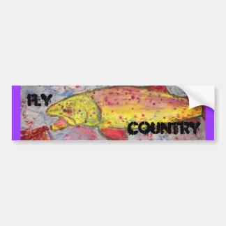 arte do país da mosca adesivo para carro