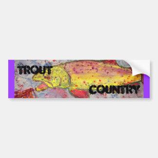 arte do país da truta adesivo para carro