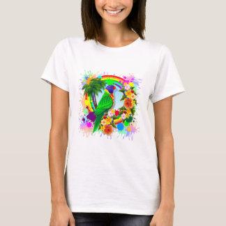 Arte do papagaio de Lorikeet do arco-íris Camiseta