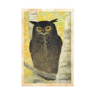 Arte do pássaro de Katsuda Yukio do vidoeiro branc