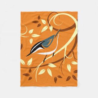 Arte do pássaro do pica-pau-cinzento cobertor de lã