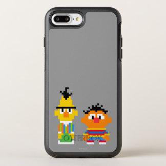 Arte do pixel de Bert e de Ernie Capa Para iPhone 7 Plus OtterBox Symmetry