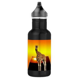 Arte do Popout do girafa, garrafa de água de