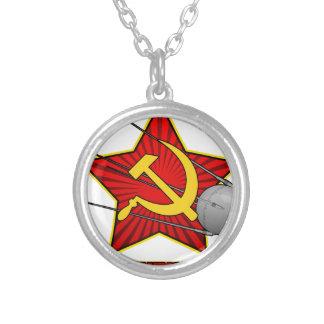 Arte do poster de Спутник Sputnik Colar Banhado A Prata