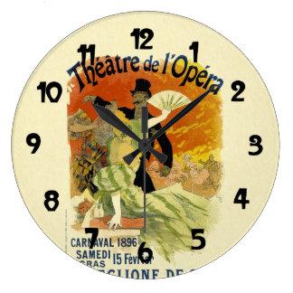 Arte do poster de salão de dança Carnaval do Relógios Para Paredes