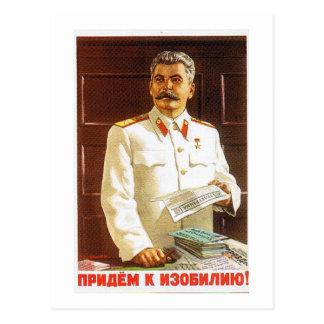 arte do poster de stalin cartão postal