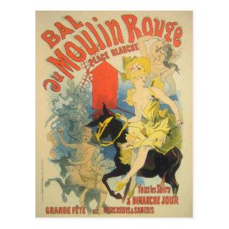 Arte do poster de Toulouse Lautrec Cartão Postal