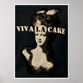 Arte do poster do bolo do la da rainha Marie