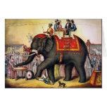 Arte do poster do circo do vintage - executando o  cartões