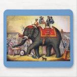Arte do poster do circo do vintage - executando o  mousepad