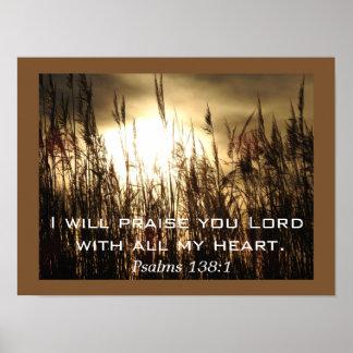 Arte do poster do _do 138:1 dos salmos