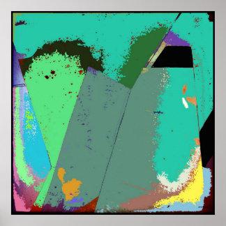 Arte do poster do Expressionism abstrato da Pôster