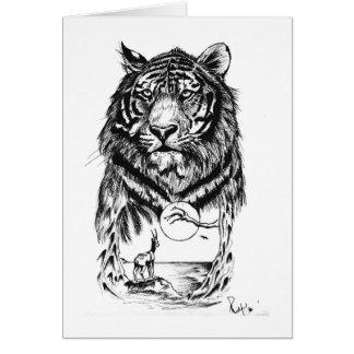 Arte do tigre do tatuagem cartão