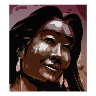 Arte do vetor de Kateri Tekakwitha do santo Poster