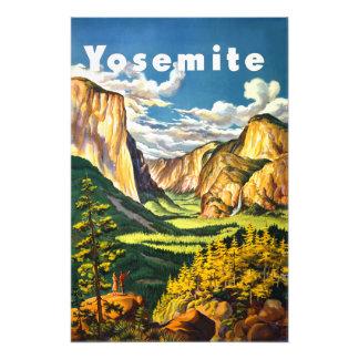 Arte do viagem de Califórnia do parque nacional de Impressão De Foto