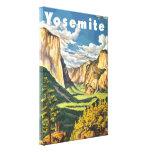 Arte do viagem de Yosemite (vetor) Impressão De Canvas Envolvida