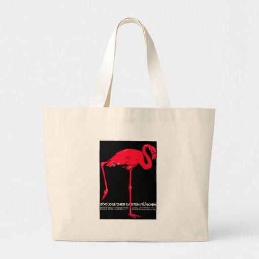 Arte do viagem do flamingo do jardim do jardim zoo bolsa para compras